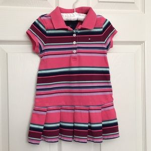 Tommy Hilfiger Striped Short Sleeves Polo Dress